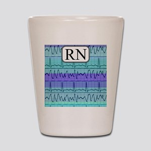 RN case blue Shot Glass