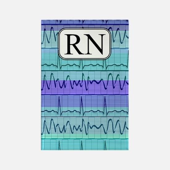 RN case blue Rectangle Magnet