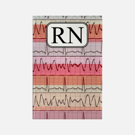 RN case reds Rectangle Magnet