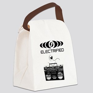Electrified Boom Box Canvas Lunch Bag