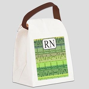 RN case green Canvas Lunch Bag
