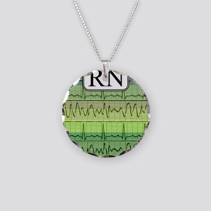 RN case green Necklace Circle Charm