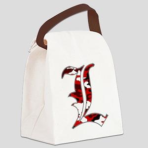 L Camo Canvas Lunch Bag