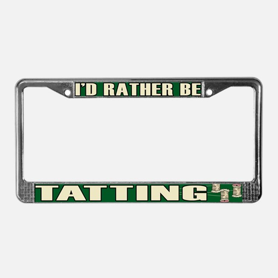 Tatting License Plate Frame