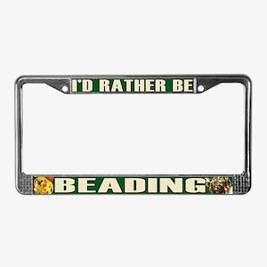 Beading License Plate Frame