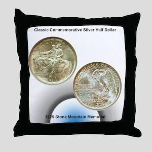 Stone Mountain Memorial Half Dollar C Throw Pillow