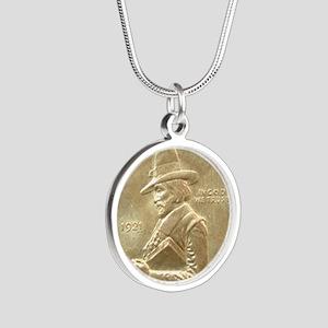 Pilgrim Tercentenary Half Do Silver Round Necklace