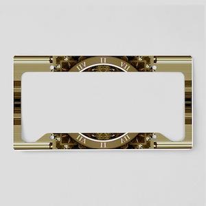 Clockwork Bronze License Plate Holder