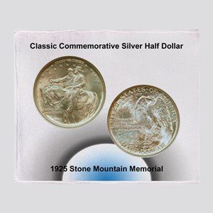 Stone Mountain Memorial Half Dollar  Throw Blanket