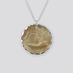 Pilgrim Tercentenary Half Do Necklace Circle Charm