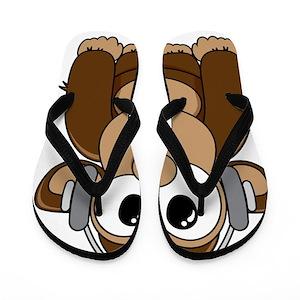 75c06a914f1f2 Chimp Flip Flops - CafePress