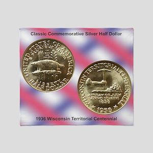 Wisconsin Territorial Centennial Hal Throw Blanket