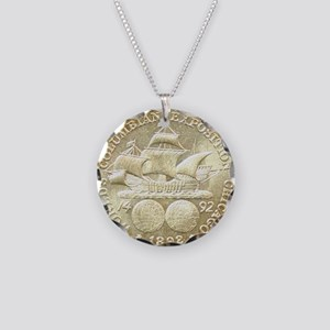 Worlds Columbian Exposition  Necklace Circle Charm