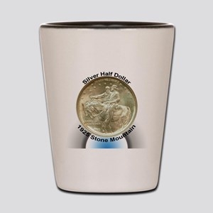 Stone Mountain Memorial Half Dollar Coi Shot Glass