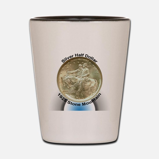 Stone Mountain Memorial Half Dollar Coi Shot Glass