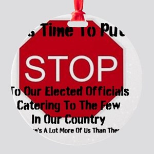 It's Time To Put A Stop To Our Elec Round Ornament