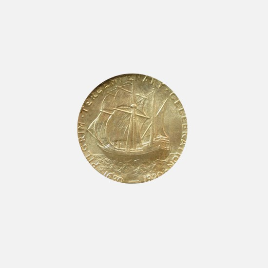 Pilgrim Tercentenary Half Dollar Coin  Mini Button