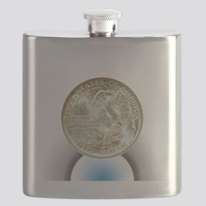 Stone Mountain Memorial Half Dollar Coin  Flask
