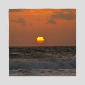 Sunrise at Beach Queen Duvet
