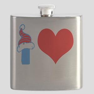I Love American Kickboxing Flask