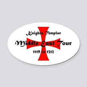 Knights Templar world Tour Oval Car Magnet