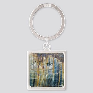 Pictured Rocks National Lake Shore Square Keychain