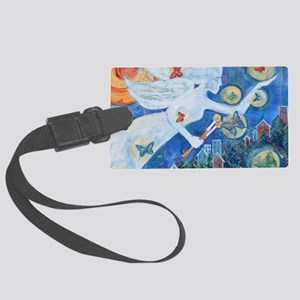"""The Angel of Hope"" by Studio OT Large Luggage Tag"