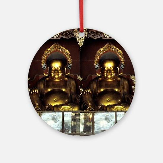 Golden Buddha Round Ornament