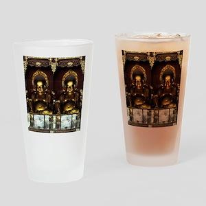 Golden Buddha Drinking Glass