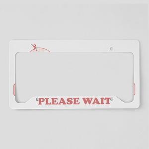 Baby Loading License Plate Holder