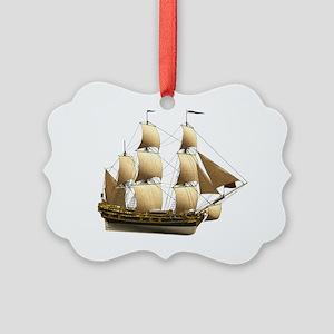 Ship 1 Picture Ornament