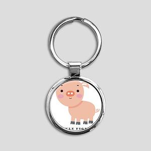 Little Piglet Round Keychain