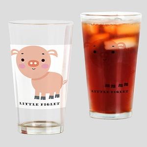Little Piglet Drinking Glass