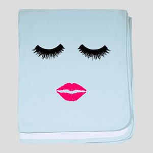 Make up Artist, Beauty Salon, Pink li baby blanket
