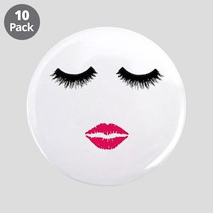 """Make up Artist, Beauty Salon 3.5"""" Button (10 pack)"""