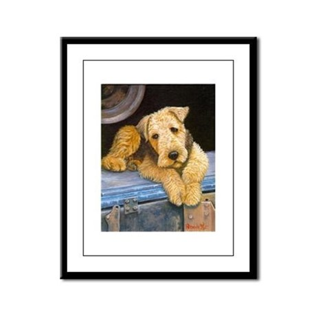 Nice Airedale Terrier Dog Framed Panel Print