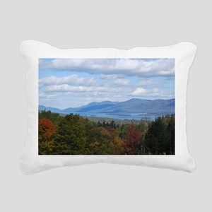Lake George Valley Rectangular Canvas Pillow