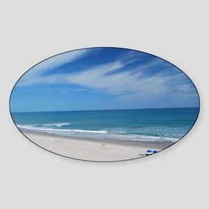 Melbourne Beach Sticker (Oval)