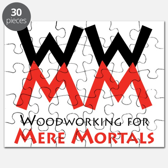 Woodworking for Mere Mortals logo Puzzle