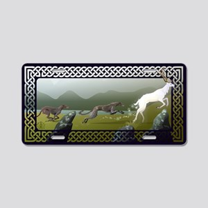 Deerhounds Aluminum License Plate