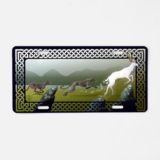 Deerhounds Aluminum License Plate