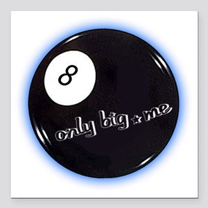 "8 ball corner pocket Square Car Magnet 3"" x 3"""