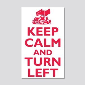 Keep Calm and Turn Left 35x21 Wall Decal