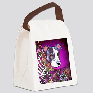 Dia los muertos dog, Pit bull Canvas Lunch Bag