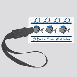ST BARTHS FRENCH WEST INDIES Large Luggage Tag
