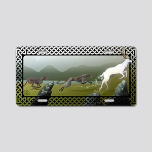 Deerhound Aluminum License Plate