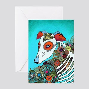 Dia Los muertos, day of the dead dog Greeting Card
