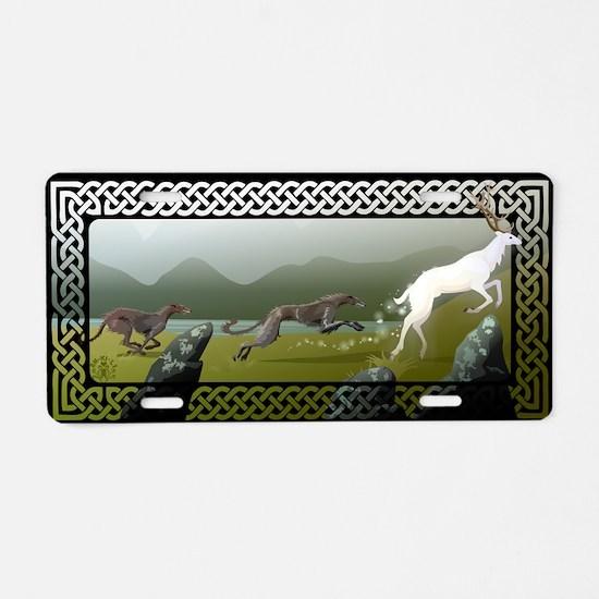 Deerhound Aluminum License Plate