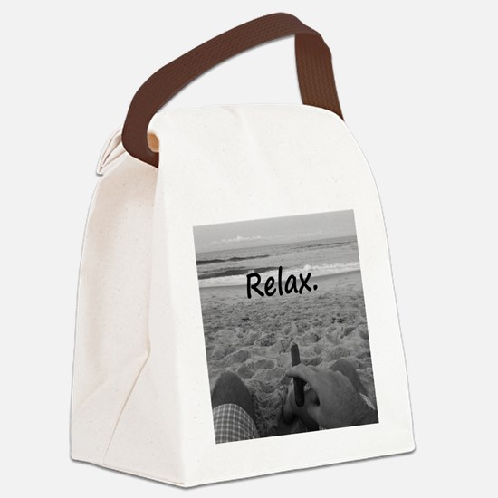 Life is a Beach Canvas Lunch Bag