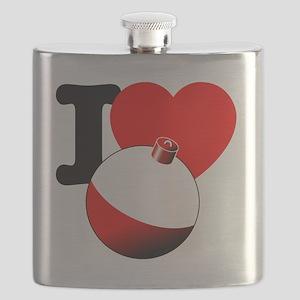 I Heart Fishing bobber Flask